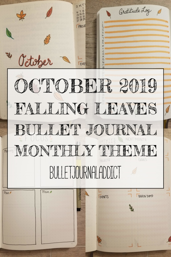 October 2019 Falling Leaves Bullet Journal Monthly Theme