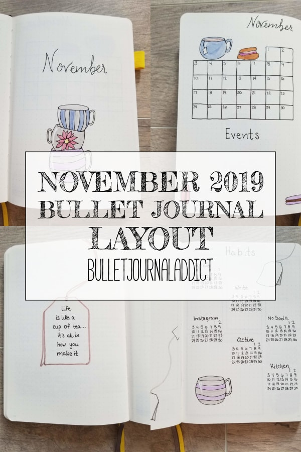November 2019 Bullet Journal Layout