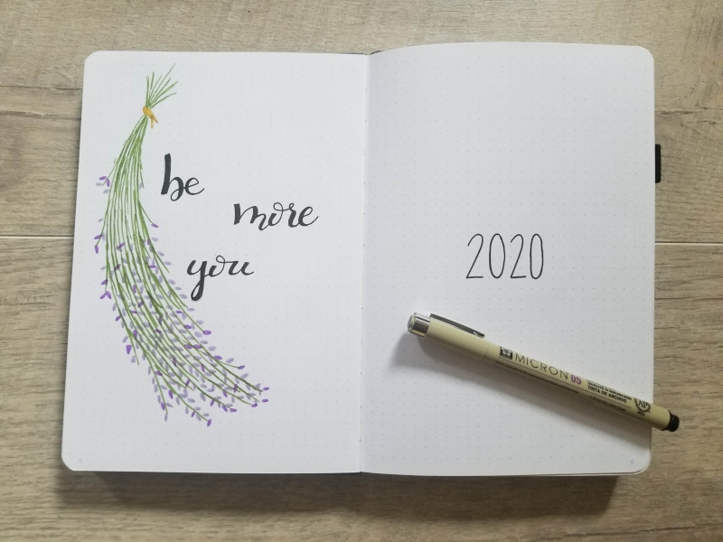2020 Bullet Journal Theme and Cover Pages
