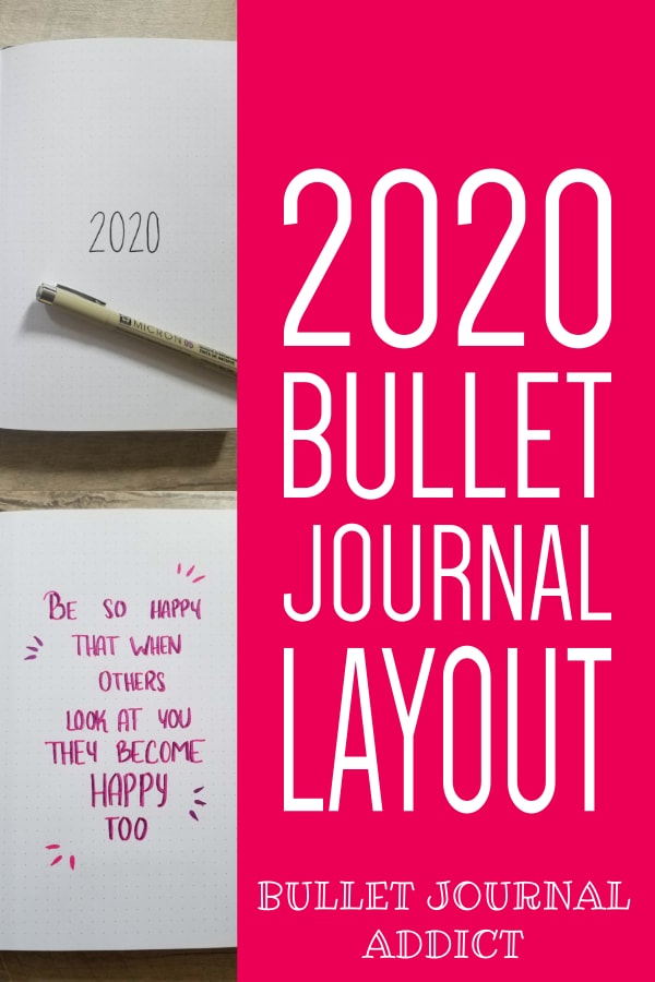 Bullet Journal Collections To Try For 2020 - Bullet Journal New Year Set Up - Bullet Journal Layout Ideas