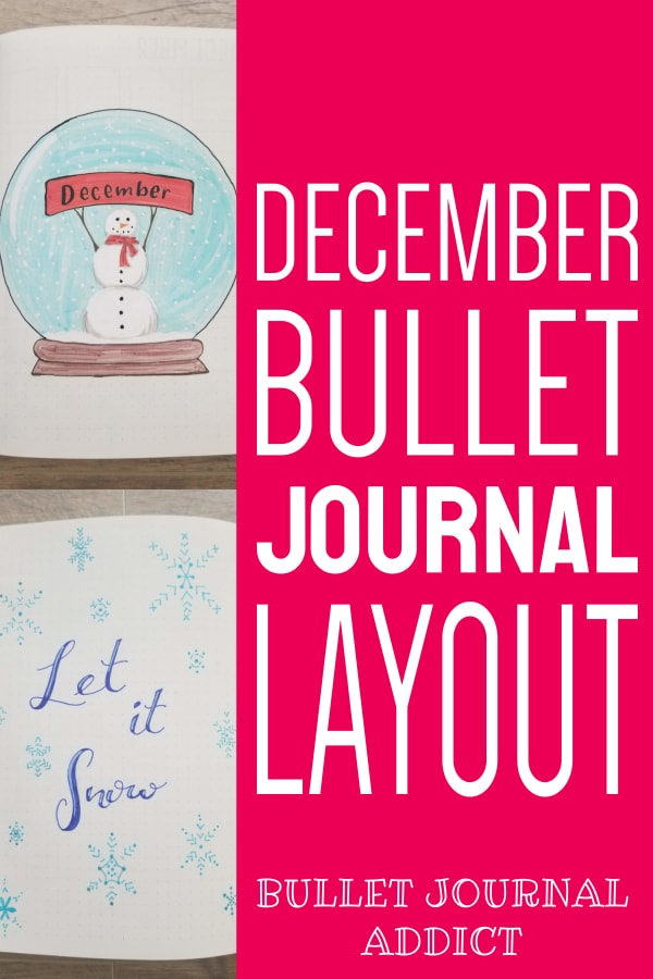 December Bullet Journal Layout