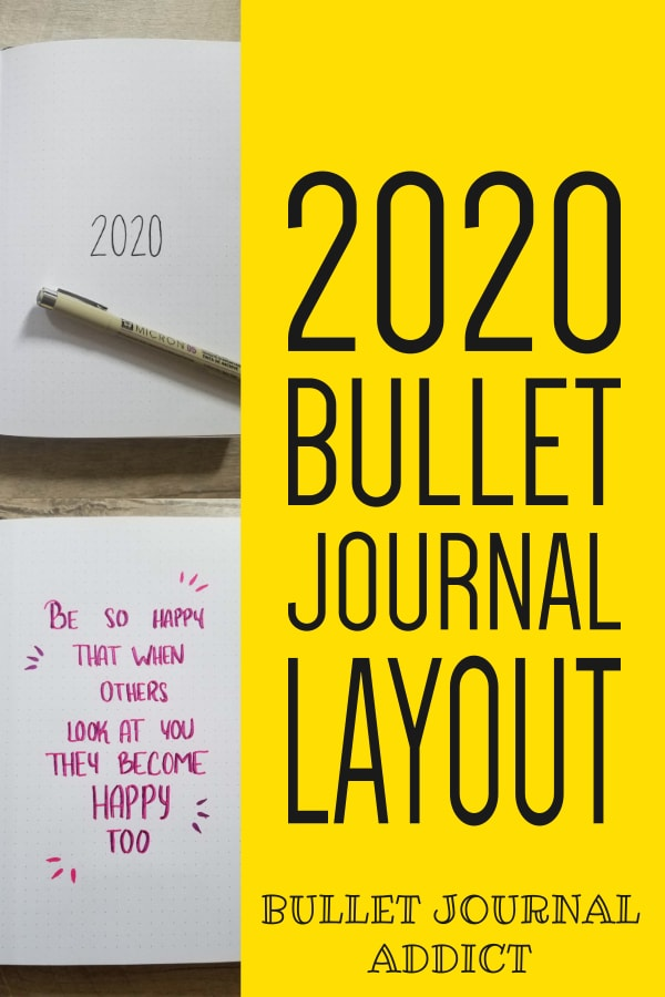 Bullet Journal Layout Ideas - Bullet Journal Collections To Try For 2020 - Bullet Journal New Year Set Up