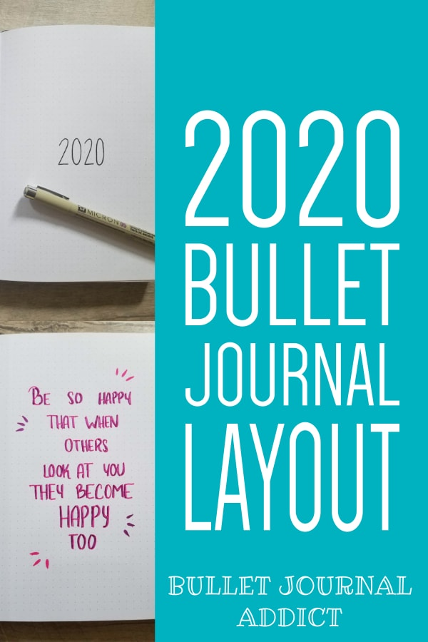 Bullet Journal New Year Set Up - Bullet Journal Layout Ideas - Bullet Journal Collections To Try For 2020