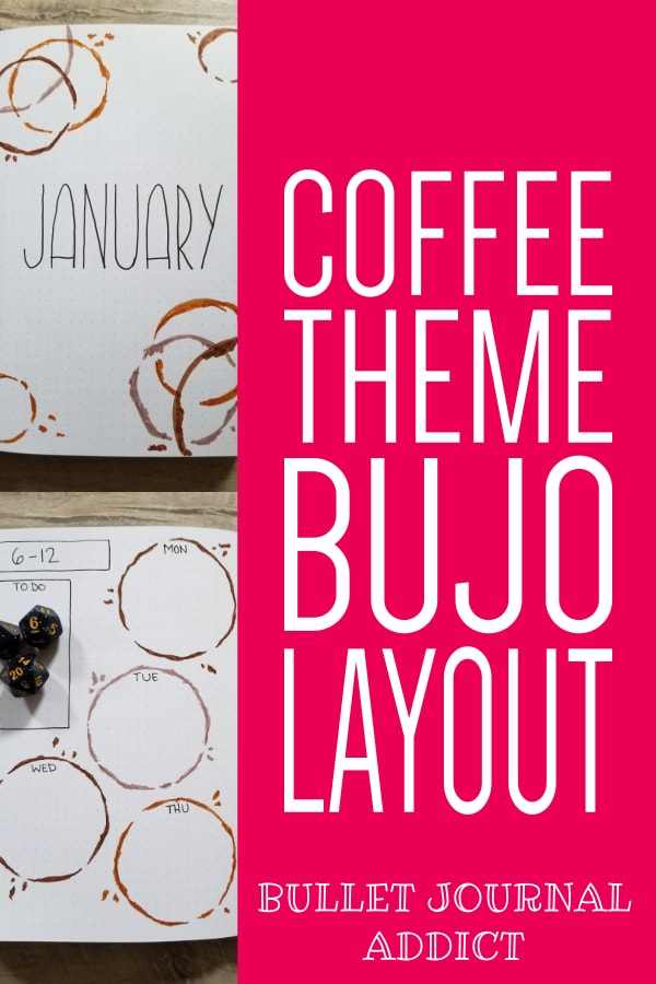 Coffee Bullet Journal Theme and Layout - January 2020 Bullet Journal Coffee Theme Spreads - Bullet Journal Monthly Theme For Coffee
