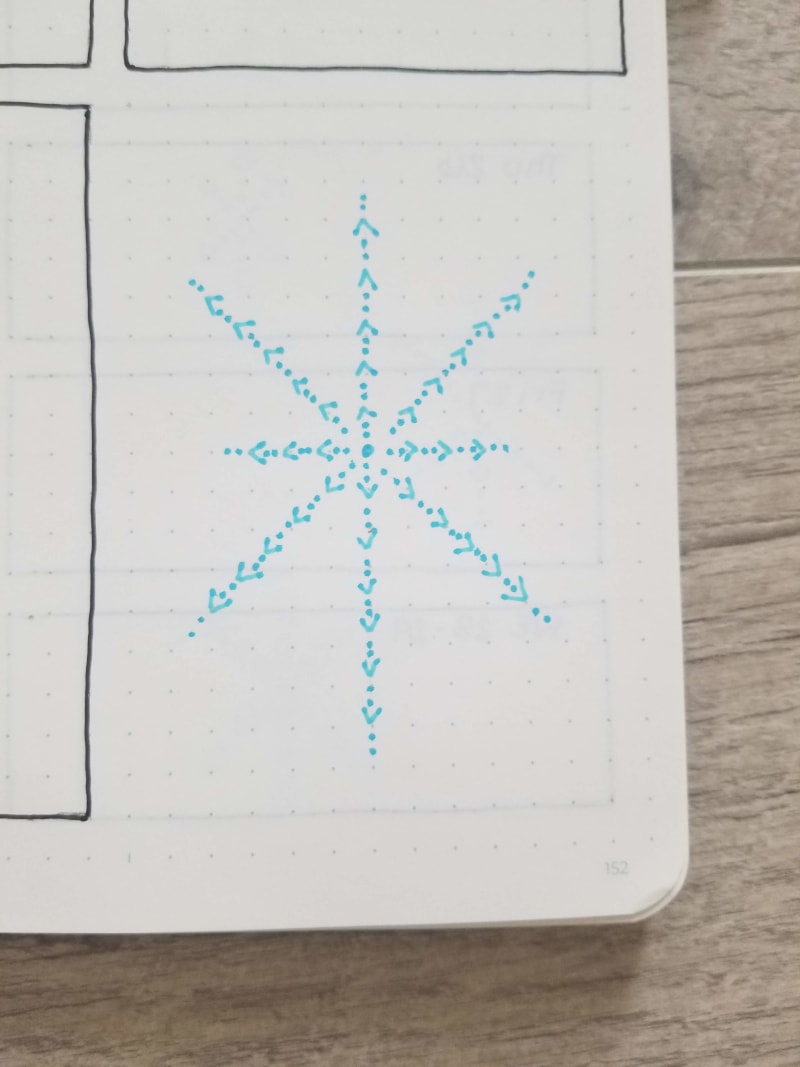 Hand drawn snowflake 2