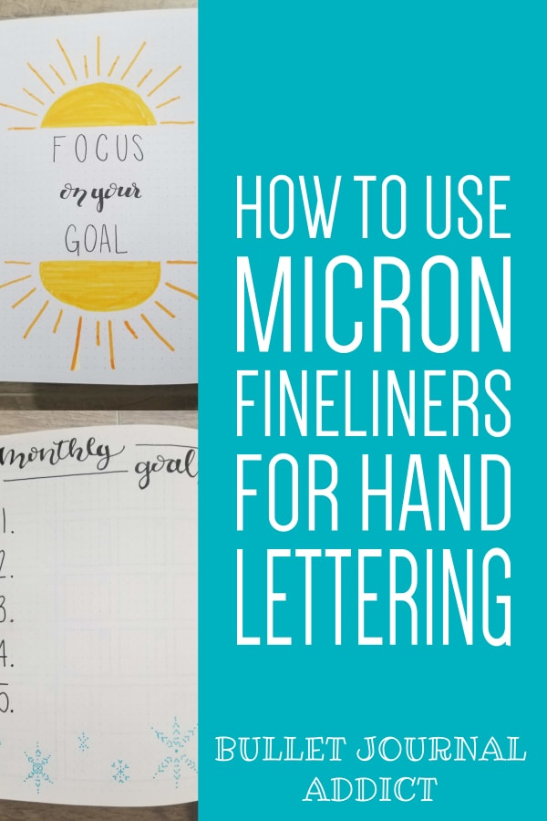 Hand Lettering Tips and Tricks For Bullet Journals - How To Do Bounce Lettering With Micron Fineliners - How To Fake Brush Lettering