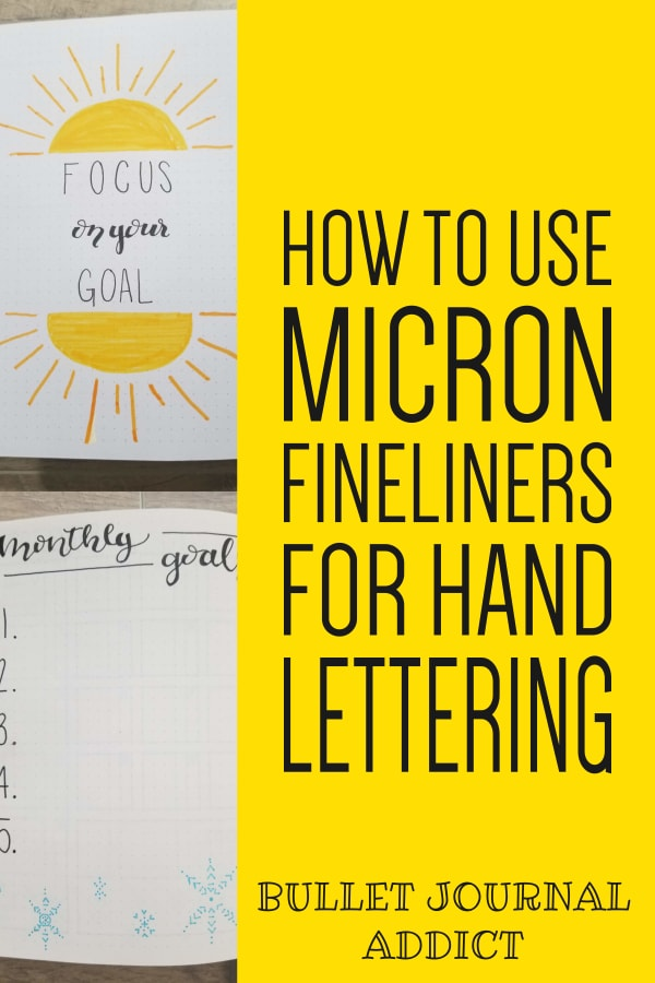 How To Do Bounce Lettering With Micron Fineliners - How To Fake Brush Lettering - Hand Lettering Tips and Tricks For Bullet Journals