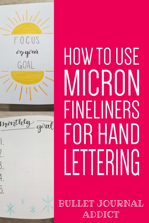 How To Fake Brush Lettering - Hand Lettering Tips and Tricks For Bullet Journals - How To Do Bounce Lettering With Micron Fineliners