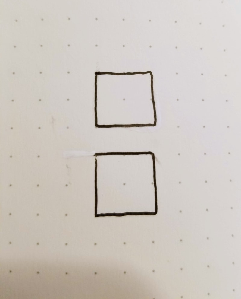 fixing smudges or too long lines in bullet journals 2