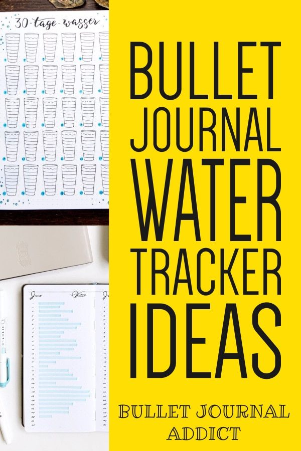 Bullet Journal Water Tracker Collections To Try - Water Trackers For Bullet Journals - How To Track How Much Water Your Drink In Your Bullet Journal