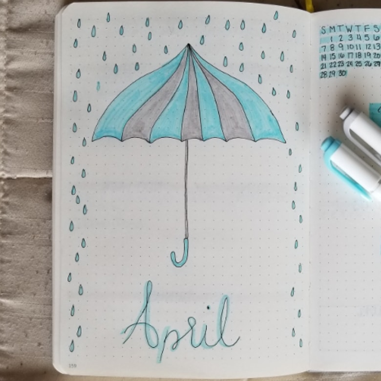 21 Beautiful April Bullet Journal Ideas