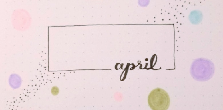 April 2020 Bullet Journal Cover