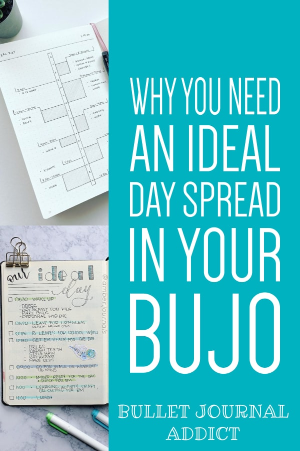 Bullet Journal Productivity and Time Management - Ideal Day Spreads For Bullet Journals - Bullet Journal Spreads and Collection Ideas