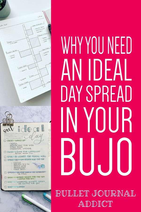 Bullet Journal Spreads and Collection Ideas - Bullet Journal Productivity and Time Management - Ideal Day Spreads For Bullet Journals